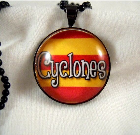 High Dome Pendant - Iowa State Cyclones or any Cyclone team  -  FAST SHIPPING