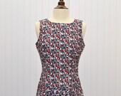 Vintage 1980's  Geo Print Rampage Dress does 1960's