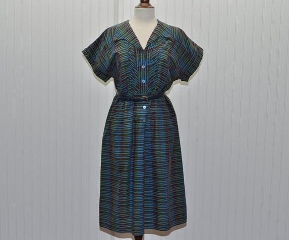 Vintage  1950 1960 Dress Large Size Office Dress