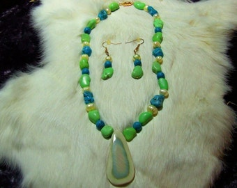 Turquoise-Imperial Jasper Necklace 07-07