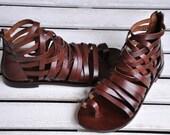 Handmade Leather Sandals (8102)