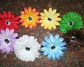 2 inch Gerber Daisy with alligator clip