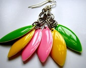 "Candy ""Everyday Lrg."" Earrings - Pink, Yellow & Lime"