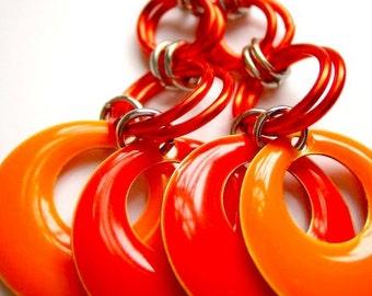 "Candy ""GoGo"" Earrings - Tangerine & Orange"