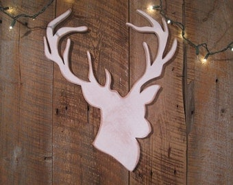 Christmas Holiday Decoration - Reindeer Head Wooden