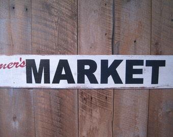 Farmer's Market - Wooden Sign