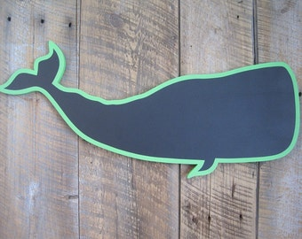 Wooden Chalkboard Whale - Wall Art Restaurant or Kitchen Sign