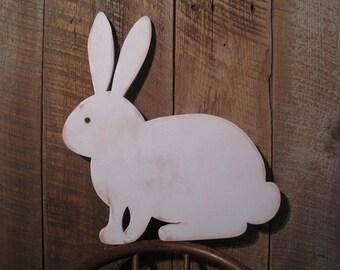 Wooden Rabbit Decoration