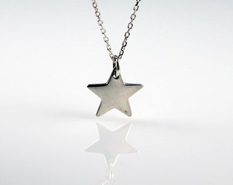 SALE - Sterling Silver Star Necklace