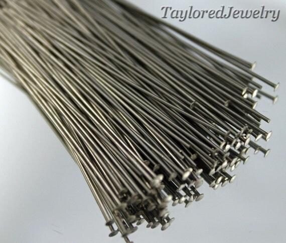 """SALE 2"""" Stainless Steel Headpin 22 Gauge (500)"""