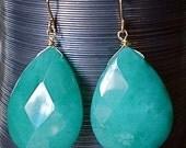Mediterranean Blue Agate Drop Earrings