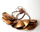Brass Fan Earrings - Coppertone Series