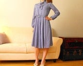 Reserved for seyres - Back To School Dress- Cloud Blue Stripes - with matching belt