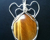 Tiger's-Eye Oval Pendant