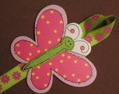 Pink Butterfly Hairbow Holder