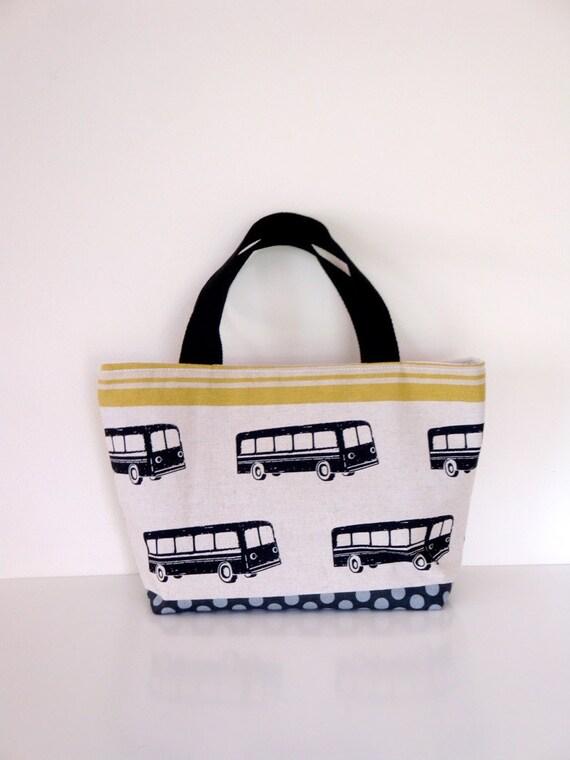 Black School Bus Tote Bag