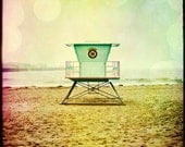 Lifeguard Stand Santa Cruz 4x4 fine art photograph Can Be Printed Very Large or on Canvas