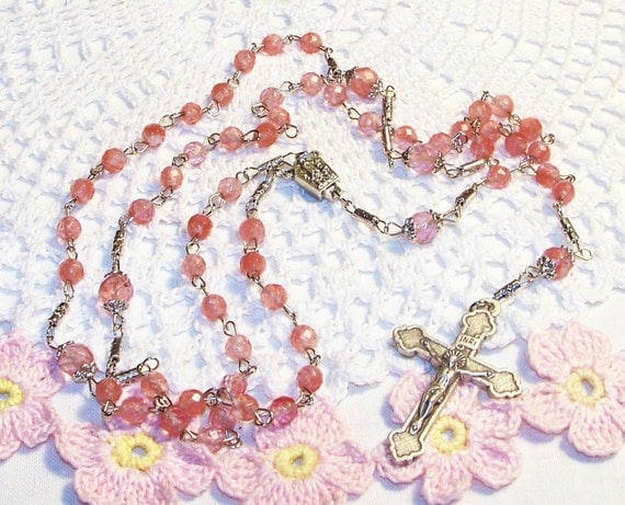 RESERVED for babyhuntersjourney - Full-Size Our Lady of Fatima Relic Rosary