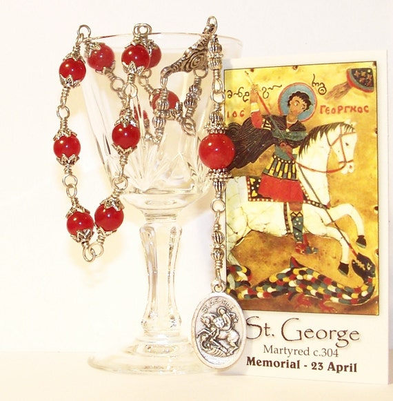 Unbreakable Chaplet of St. George - Patron Saint of Boy Scouts, Soldiers, Farmers, Equestrians, and Against STD's and Skin Diseases