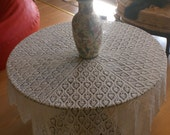 handmade lace tablecloth - FREE SHIPPING