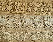 Antique Lace Wedding & Chritmas Decor Wonderful collection of antique Genovese style, bobbins and Bedfordshire lace