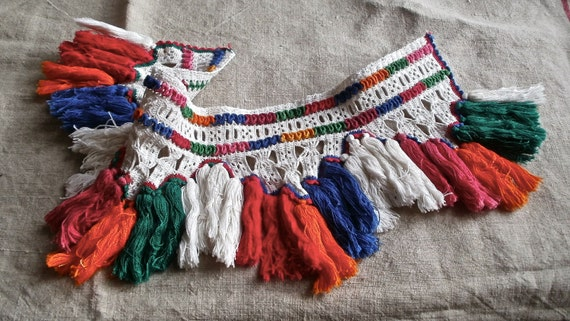 Pelmet handmade Hungarian needlework braiding trimming crafts and collectable