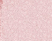 Shabby Floral Dust Pink Paper - 12x12 Digital and Printable