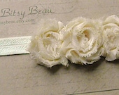 Shabby Chic Trio Headband in Cream