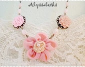 Pink French Garden Necklace