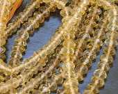 Citrine Micro faceted rondelles 14 inch strand fine quality great price, it is a gorgeous quality