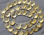 Brand New, Full 8 Inch Strand,9-10mm Giant size, Natural CITRINE Faceted Heart Shape Briolettes,Amazing Item at Low Price.