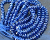 SUPERB, AAA Quality Natural Blue Kyanite Faceted Rondelles, 4-5mm Size,1/2 Strand,Extra Finest Quality Kyanite