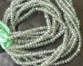 Full Strand,Superb-Finest Mystic GREEN TOPAZ, AAA Quality,Faceted Beads,4.5mm size Great Price