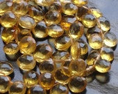 8 Inch Strand,Brand New,9-10mm Giant size, Natural CITRINE Faceted Heart Shape Briolettes,Amazing Item at Low Price.