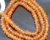 Superb-Finest FANTA Color CARNELIAN Micro Faceted rondellsm,4mm size,aprx.Full 14 I nch Strand