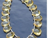 Brand New,1/2 Strand, Super Quality, CITRINE Faceted PEAR Shaped Briolettes, 11-14mm Long size,GORGEOUS