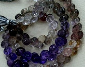 160 Cts Strand, Multi Natural-Super Finest AAA Quality, Moss AMETHYST Faceted Onions Briolettes, 8-9mm aprx.Super,Very Fine