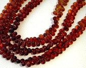 SUPERB-Brandy CITRINE Micro Faceted Drops Shape Briolettes,Amazing Rare Color,full 8 Inch Strand,8mm Long.