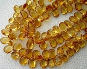 Brand New,GIANT Size, 1/2 Strand, SUPERB Finest Quality, Citrine Faceted LARGER Size Pear Briolettes, 11-14mm aprx.Super Fine Citrine Ever.