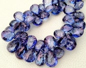New Arrival, 11 Pieces strand, AAA Quality, Mystic TANZANITE Blue Quartz CONCAVE Cut Pear Shaped Briolettes,11-14mm, Great Price Item