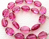 8 Inch Full Strand, Amaazing NEW PINK Quartz Faceted Ovals Nuggets, 9-12mm size,Finest Cut and Polished