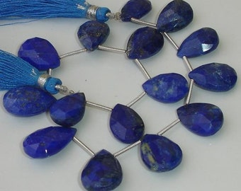 Superb-Finest-Lapis Lazuli Faceted Pear Briolettes 14-18mm Long,Great Price Rare Item