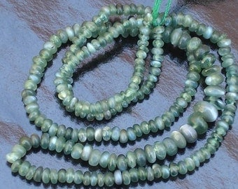 Super Rare NATURAL ALEXANDRITE CAT'S Eye Smooth Rondells, 2.5-3.5mm Size, 6 Inch Long Strand,Great Price