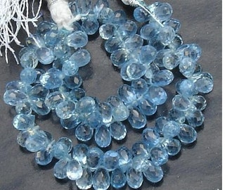 40 Pcs of Extremely Beautiful BLUE TOPAZ (Corundum) QUARTZ, 6-7mm Long, Great Item at Low price,Great Price