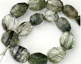 AAA Truly Rare Quality, GREEN RUTILATED Quartz Faceted Nuggets Shape Briolettes,Great Price Item,