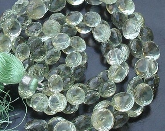 Finest Quality,SUPER-GREEN AMETHYST Micro Faceted Onions Briolettes,Great Price Item 7-8mm Size