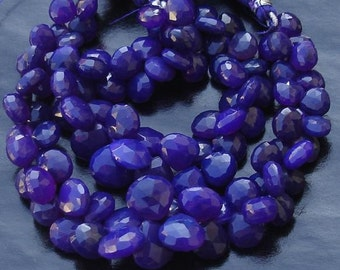 Brand New, 2x6 Inches Strand, Rare Amethyst Purple Chalcedony Faceted Heart Briolettes,8-10mm Long size,GORGEOUS.