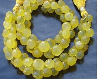6 Inches Strand, Mango Chalcedony Faceted ONIONS Briolettes,8-11mm Long size,GORGEOUS.