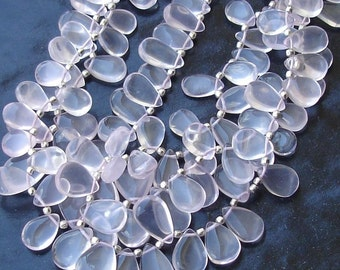 1/2 Strand, AAA Quality Rose Quartz Smooth Pear Shaped Briolettes,10-16mm Size,Great Quality