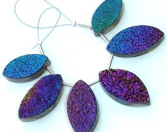 AAA Quality TITANIUM Druzy Marquise Shaped Briolettes,20-24mm Size,Great Item,Amazing Quality